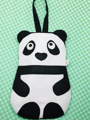 lixinho de carro ursinho panda plastificado por dentro *