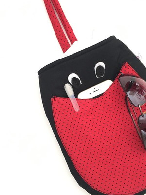 lixeira organizadora carro joaninha com bolso plastificada *