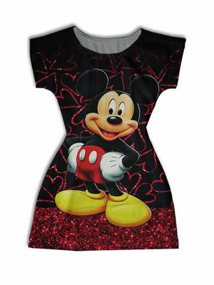 Vestido Adulto Manga Curta - Mickey Suwannee