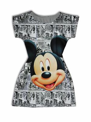 Vestido Adulto Manga Curta - Mickey Liberty