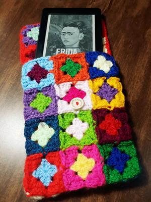 Case para Kindle em Crochet