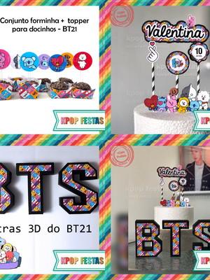Kit festa em casa BTS - BT21