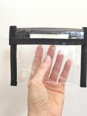 Capinha Porta Máscara Proteção plástico 14x11cm * cor lisa
