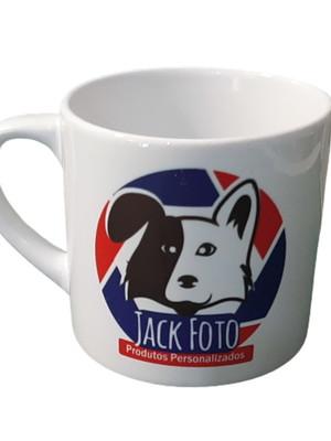 Mini Caneca Logo Jack em Cerâmica Branca 165 ml café 6 OZ