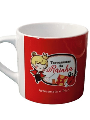 Xícara de Café Personalizada em Cerâmica Branca 165 ml café