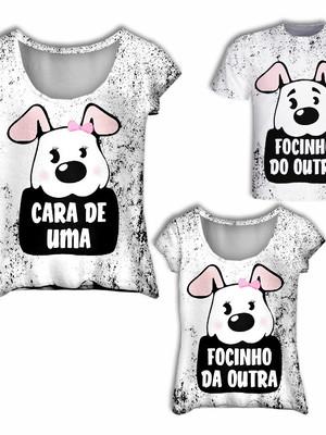 Camisas Mãe, Filha e Filho - Cara de um Focinho do outro