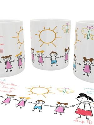 Caneca Personalizada Dia Dos Professores Infantil Cerâmica