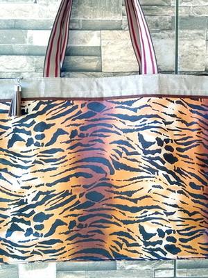 Bolsa Sacola de Tecido com Zíper 32x10x40 cm