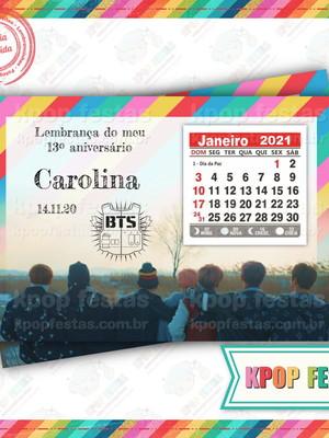 Imã 10x14 com calendário - BTS