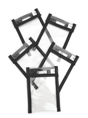 Kit com 5 capinhas porta máscara 15x10,5 * somente cor lisa