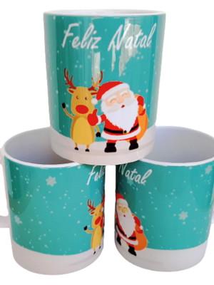 Caneca de Cerâmica Com Frase Feliz Natal