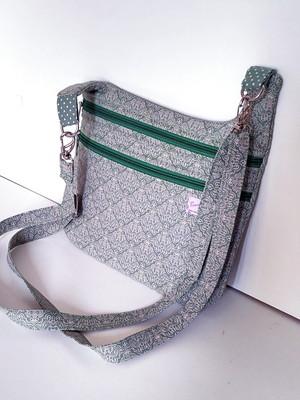 Bolsa tiracolo de tecido