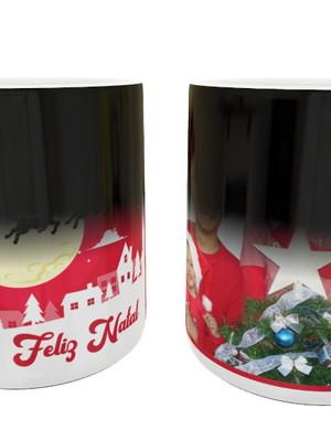 Caneca Mágica Personalizada de Cerâmica C/ Sua Foto de Natal