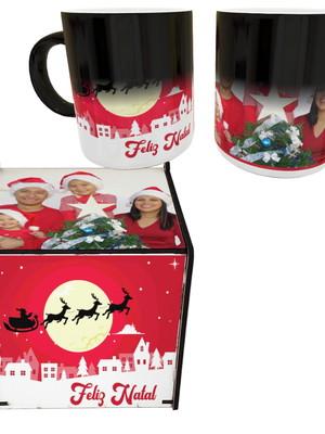 Caneca Mágica c/ Caixinha Personalizadas c/ Sua Foto Natal