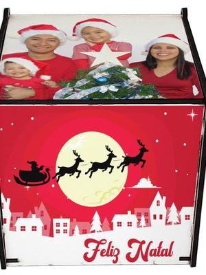 Caixinha Personalizada em MDF para Canecas de Natal