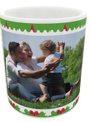Caneca de Natal de Cerâmica Personalizada Com Foto