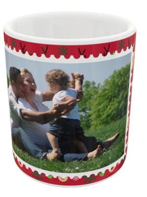 Caneca de Cerâmica de Natal Personalizada Com Foto
