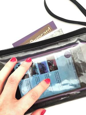 bolsinha carteira alça de mão porta celular visor * escolher
