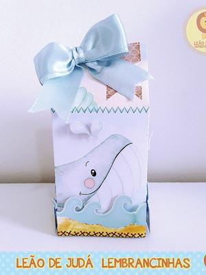 Caixinha para festa tema fundo do mar menino