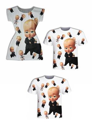 Camisa Pai e Filho + Vestido Mãe - Chefinho