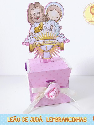Caixinha para festa tema batizado menina