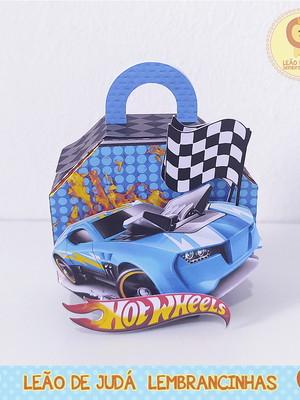 Caixinha para festa tema hot wheels