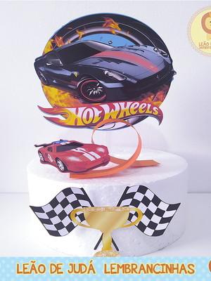 TOPO DE BOLO hot wheels