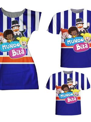 Camisetas Pai e Filho + Vestido Mãe - Mund Bita
