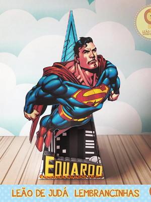 Caixinha para festa tema superman
