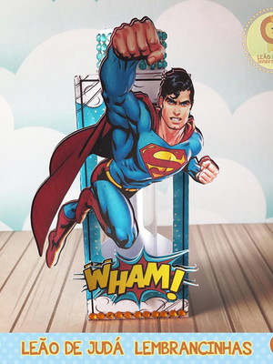Caixinha porta tubete tema superman