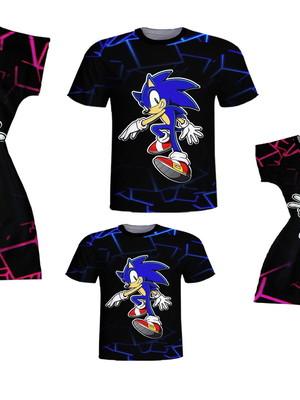 Camisetas Pai e Filho, Vestidos Mãe e Filha -Soni e Amy
