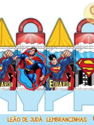 Caixinha para festa tema Super homem