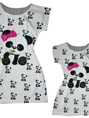 Vestidos Mãe e Filha - Panda