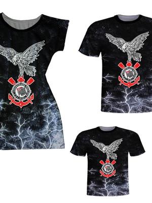 Camisetas Pai e Filho + Vestido Mãe - Times