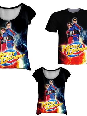Camisetas Pai, Mãe e Filha - Danger