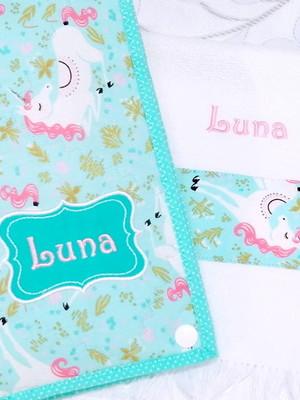 Kit Higiene Bucal Infantil e Toalhinha Personalizados