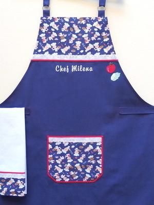 Avental de Cozinha Feminino Personalizado com nome bordado