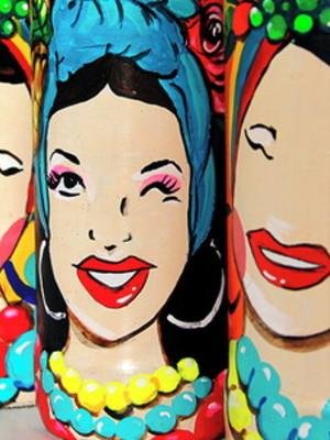Carmen Miranda | garrafa decorada