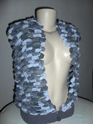 Colete em tricot Gray