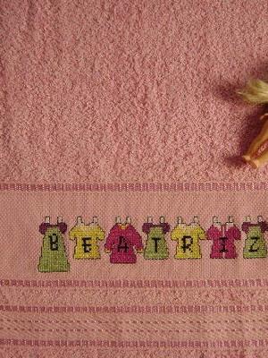 Toalha de Rosto - Boneca de Papel - Beatriz