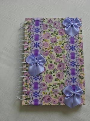 Cadernetas Encapadas Com Tecido 1