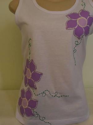 Camiseta Regata Floral 2