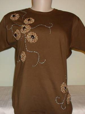 Camiseta Baby look - floral 1