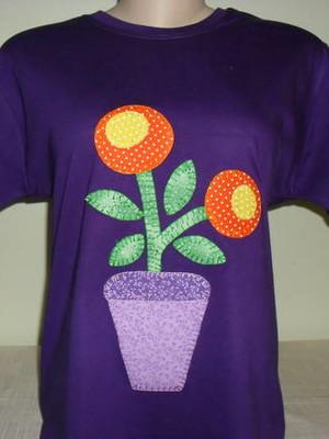Camiseta Baby Look - Vaso de flores 1