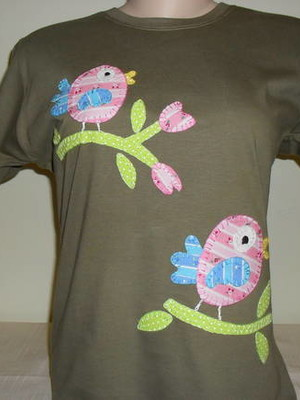 Camiseta Baby Look - Passarinhos 1