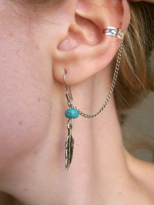 Ear Cuff Boho Feather