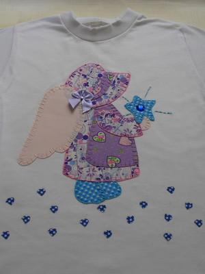 Camiseta Infantil -Sunbonnet anjo