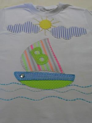 Camiseta Infantil - Barquinho
