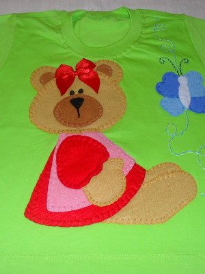 Camiseta Infantil - Ursinha