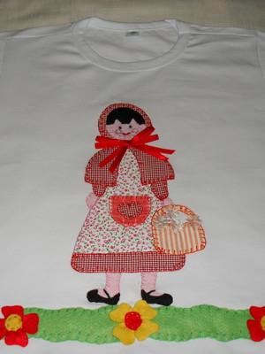 Camiseta Infantil -Chapeuzinho Vermelho1